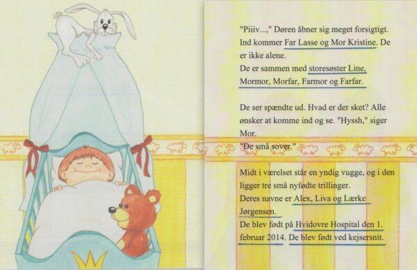 Babybogen - min første bog til trillinger - 3 bøger-1321