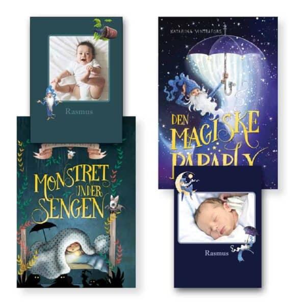 Min Godnatbog - personlige børnebog med navn - to historier