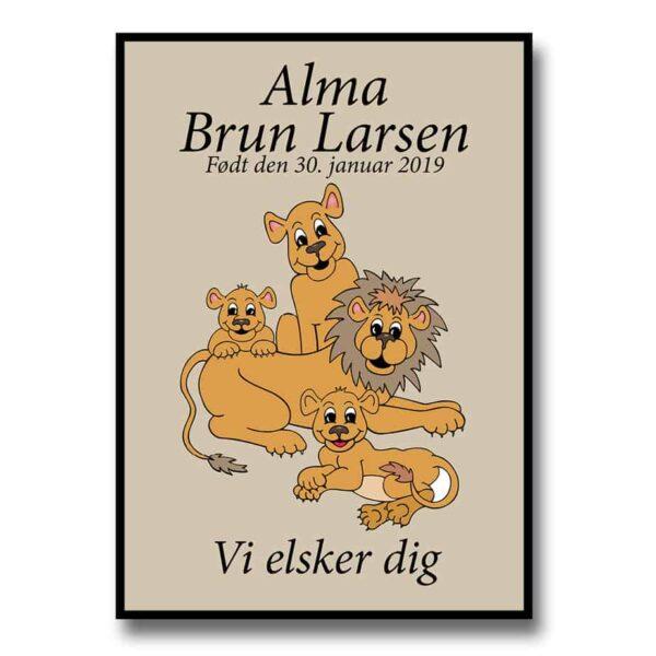 Plakat med løver