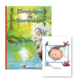 Elverpigen og Stortrolden - personlige børnebog med foto