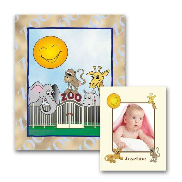 Personlig børnebog med navn - Zoo bogen med foto fra Min Personlige Bog