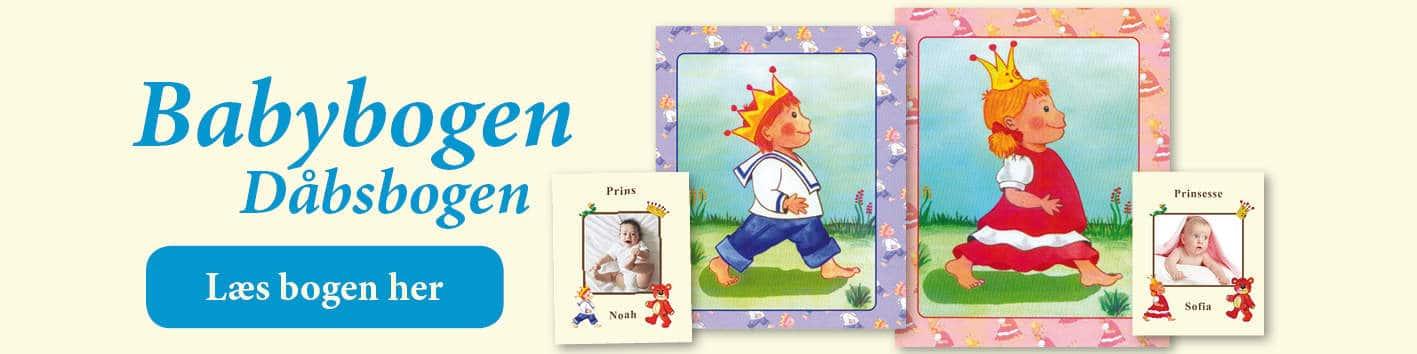 Babybogen - barnets første bog med navn fra Min Personlige Bog