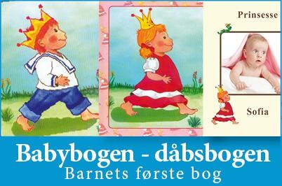 Babybogen er Barnets første bog - dåbsbog fra Min Personlige Bog