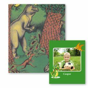 Dino-bogen med fotoside - en personlig børnebog