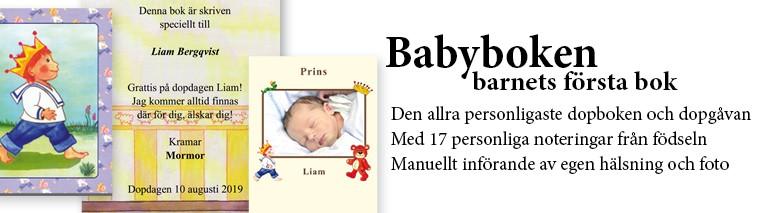 Babyboken barnets första bok - med namn - unikabarn.se