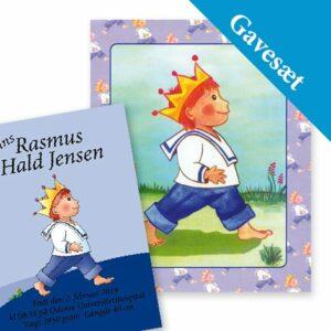 Gavesæt til dåb for drenge - personlig bog & navneplakat