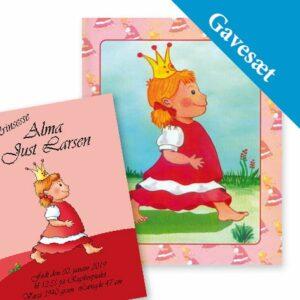 Dåb gavesæt - plakat & Babybogen med navn