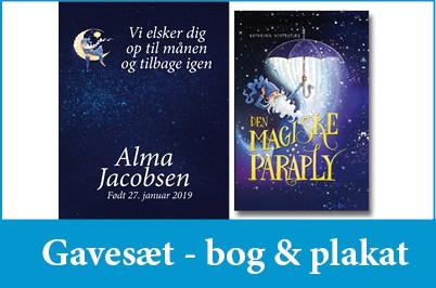 Gavesæt - personlig bog & plakat - Min Personlige Bog